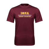 Performance Maroon Tee-Cross Country