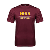 Performance Maroon Tee-Rowing