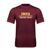 Performance Maroon Tee-Water Polo