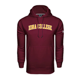 Under Armour Maroon Performance Sweats Team Hoodie-Arched Iona College