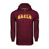 Under Armour Maroon Performance Sweats Team Hoodie-Arched Iona College Gaels