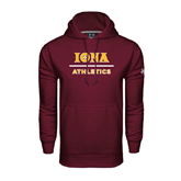 Under Armour Maroon Performance Sweats Team Hoodie-Athletics