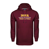 Under Armour Maroon Performance Sweats Team Hoodie-Track and Field