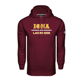 Under Armour Maroon Performance Sweats Team Hood-Lacrosse