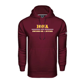 Under Armour Maroon Performance Sweats Team Hoodie-Swimming and Diving