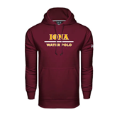 Under Armour Maroon Performance Sweats Team Hoodie-Water Polo