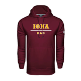Under Armour Maroon Performance Sweats Team Hoodie-Dad