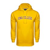 Under Armour Gold Performance Sweats Team Hoodie-Arched Iona College