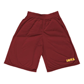 Performance Classic Maroon 9 Inch Short-Iona Wordmark