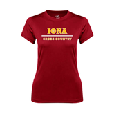 Ladies Syntrel Performance Cardinal Tee-Cross Country