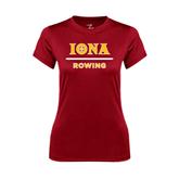 Ladies Syntrel Performance Cardinal Tee-Rowing