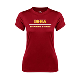 Ladies Syntrel Performance Cardinal Tee-Swimming and Diving