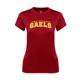 College  Ladies Syntrel Performance Cardinal Tee-Arched Iona College Gaels