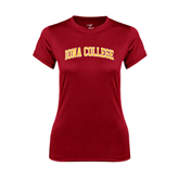 College  Ladies Syntrel Performance Cardinal Tee-Arched Iona College