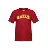 College  Youth Cardinal T Shirt-Arched Iona College Gaels