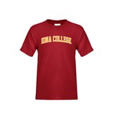 College  Youth Cardinal T Shirt-Arched Iona College