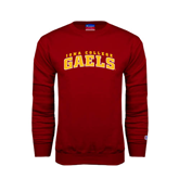Cardinal Fleece Crew-Arched Iona College Gaels