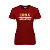 Ladies Cardinal T Shirt-Athletics