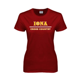 Ladies Cardinal T Shirt-Cross Country