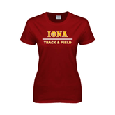 Ladies Cardinal T Shirt-Track and Field