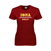 Ladies Cardinal T Shirt-Golf