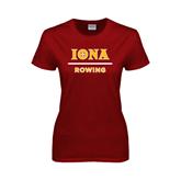 Ladies Cardinal T Shirt-Rowing