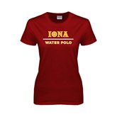 Ladies Cardinal T Shirt-Water Polo