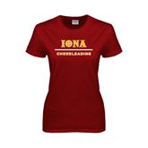 Ladies Cardinal T Shirt-Cheerleading