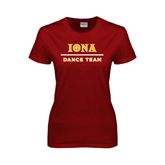 Ladies Cardinal T Shirt-Dance Team