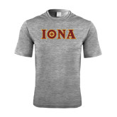 Performance Grey Heather Contender Tee-Iona Wordmark
