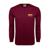 Maroon Long Sleeve T Shirt-Official Logo