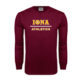 Maroon Long Sleeve T Shirt-Athletics