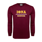 Maroon Long Sleeve T Shirt-Rowing