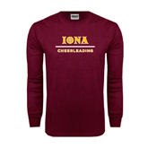 Maroon Long Sleeve T Shirt-Cheerleading