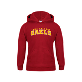 Youth Cardinal Fleece Hoodie-Arched Iona College Gaels