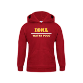 Youth Cardinal Fleece Hoodie-Water Polo