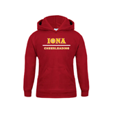 Youth Cardinal Fleece Hoodie-Cheerleading