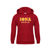Youth Cardinal Fleece Hoodie-Official Logo