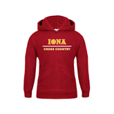 Youth Cardinal Fleece Hoodie-Cross Country