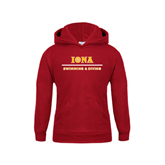 Youth Cardinal Fleece Hoodie-Swimming and Diving