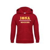 Youth Cardinal Fleece Hoodie-Soccer