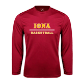 Syntrel Performance Cardinal Longsleeve Shirt-Basketball