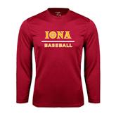 Syntrel Performance Cardinal Longsleeve Shirt-Baseball