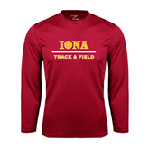 Syntrel Performance Cardinal Longsleeve Shirt-Track and Field