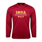 Syntrel Performance Cardinal Longsleeve Shirt-Golf