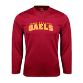 College  Syntrel Performance Cardinal Longsleeve Shirt-Arched Iona College Gaels