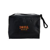 Koozie Six Pack Black Cooler-Official Logo