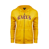 ENZA Ladies Gold Fleece Full Zip Hoodie-Arched Iona College Gaels