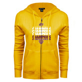 ENZA Ladies Gold Fleece Full Zip Hoodie-MAAC Mens Basketball Champs