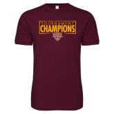 Next Level SoftStyle Maroon T Shirt-2018 Mens Basketball Champions - Box